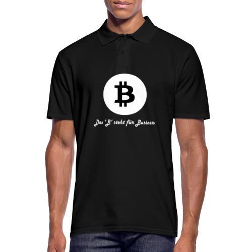 Das B steht fuer Business weiss - Männer Poloshirt