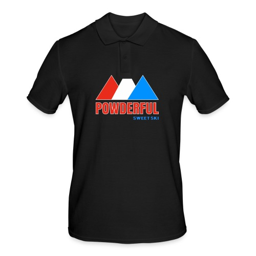Powderful Sweet Ski - Männer Poloshirt