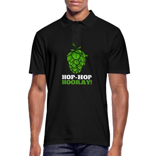 Hop Hop Hooray! Hops / beer fan - Men's Polo Shirt