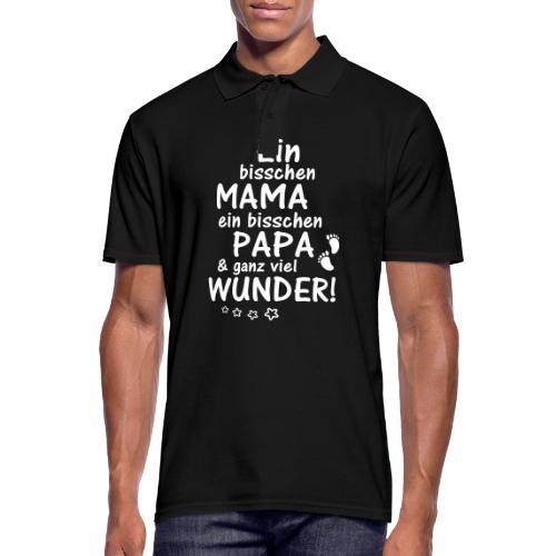 Ein bisschen Mama Papa & ganz viel Wunder - Männer Poloshirt