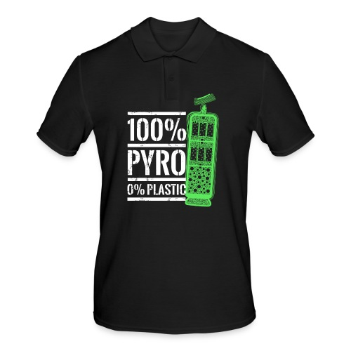 Pyro Feuerwerk Grün - Männer Poloshirt