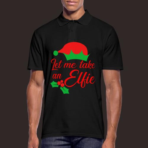 Weihnachten | Elf Mütze Weihnachtself Wortspiel - Männer Poloshirt