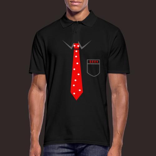 Geek | Schlips Krawatte Wissenschaft Streber - Männer Poloshirt