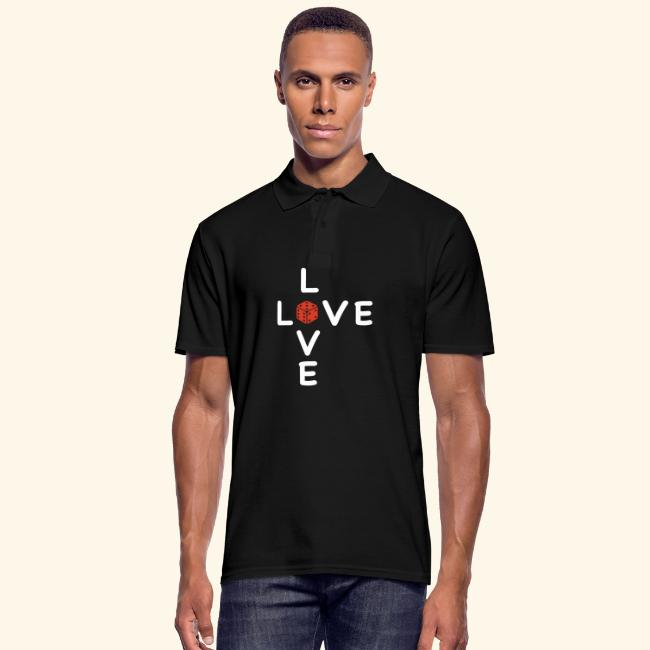 LOVE Cross white wuerfel red 001