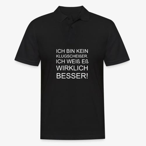 ICH BIN KEIN KLUGSCHEIßER - Männer Poloshirt