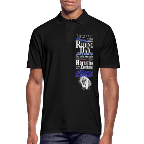 Limited Edition Riding Dad Pferd Reiten - Männer Poloshirt