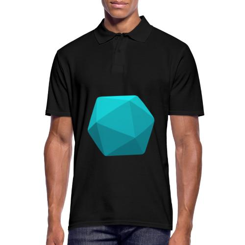 Blue d20 - D&D Dungeons and dragons dnd - Polo Homme