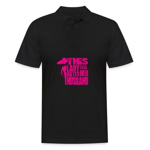 This Lady still dates Her Husband Pink - Männer Poloshirt
