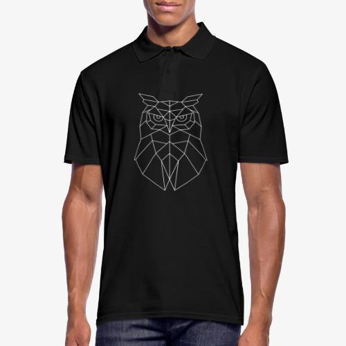 Eule Geometrisch weiss - Männer Poloshirt