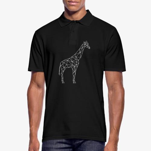 Giraffe Geometrisch weiss - Männer Poloshirt