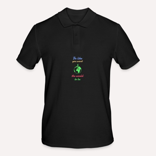 Caring About climate? Save The Planet Print Design - Men's Polo Shirt