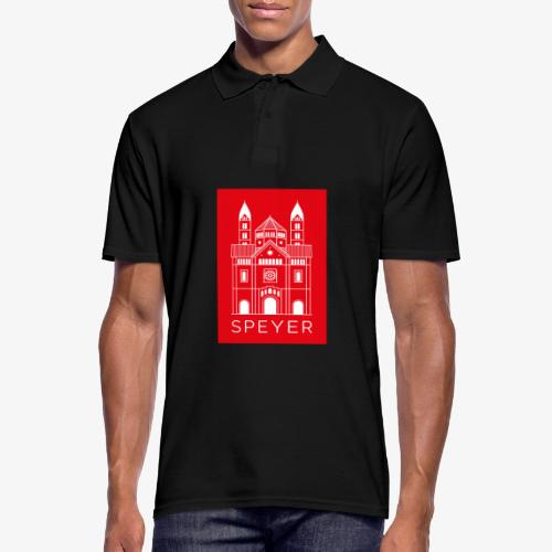 Speyer - Dom - Red - Modern Font - Männer Poloshirt