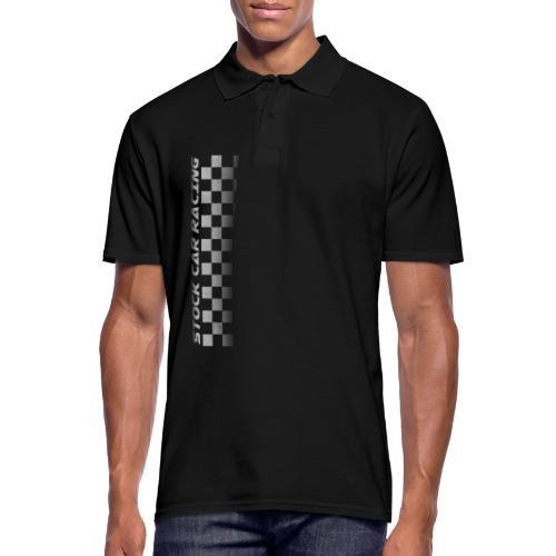 Stock Car Racing chequered flag side design - Men's Polo Shirt