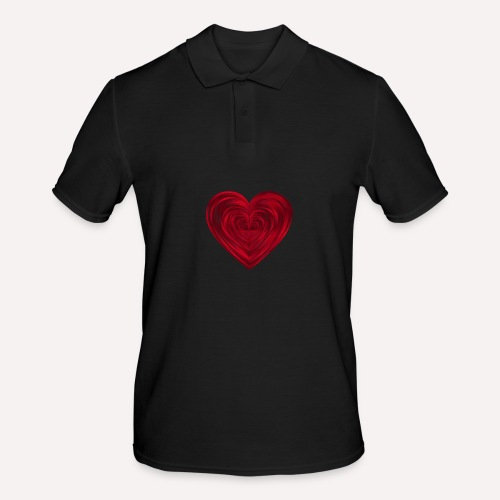 Love Heart Print T-shirt design - Men's Polo Shirt