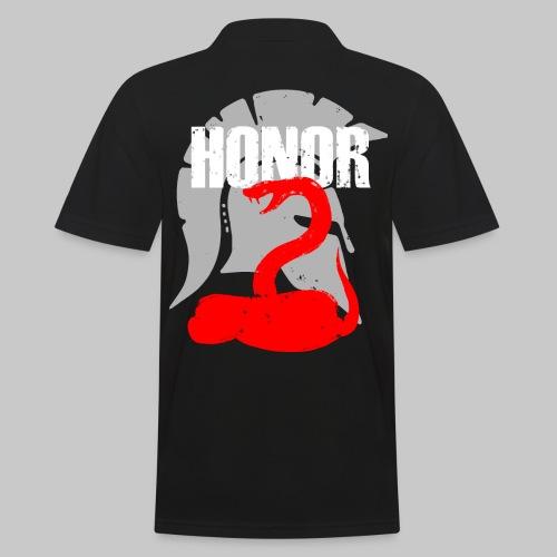 2reborn spartan honor ehre sparta schlange snake e - Männer Poloshirt