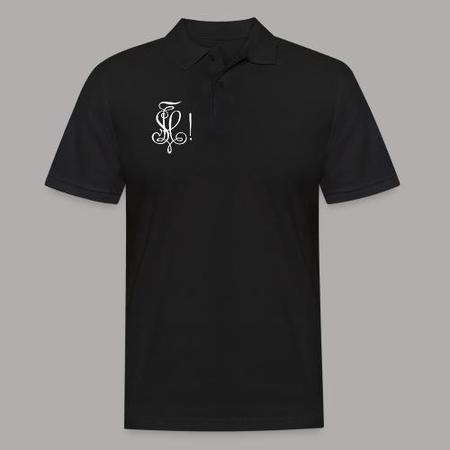 Zirkel, weiss (vorne) Zirkel, weiss (hinten) - Männer Poloshirt