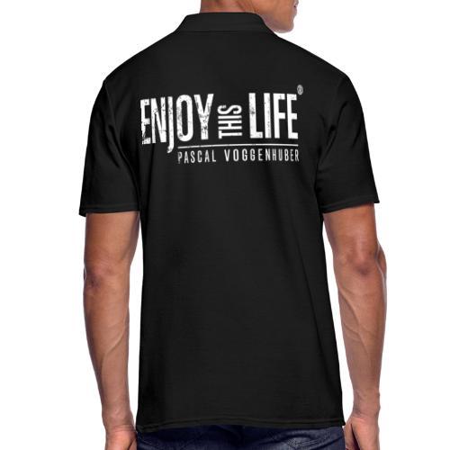 Enjoy this Life® Classic weiss Pascal Voggenhuber - Männer Poloshirt