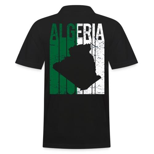 flag of Algeria t-shirt design grunge effect - Polo da uomo