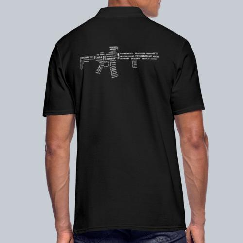 TXT RIFLE (White) - REAPERs Airsoft - Männer Poloshirt