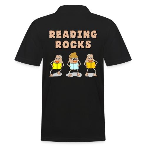 Reading Rocks Funny Book Lovers - Men's Polo Shirt