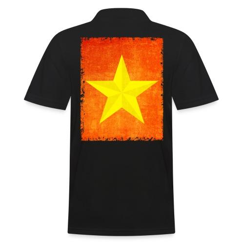 yellow amish barn star t-shirt design gift idea - Polo da uomo