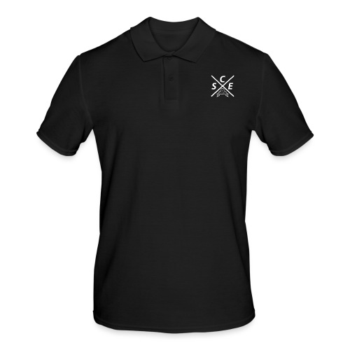SCE Kreuz -small Backprint - Männer Poloshirt