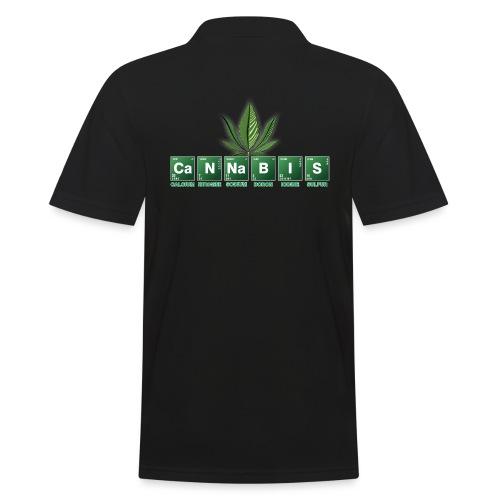 cannabis - Männer Poloshirt