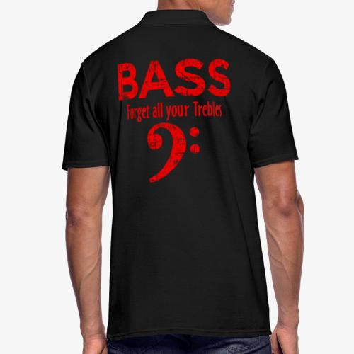 BASS Forget all your trebles (Vintage/Rot) - Männer Poloshirt