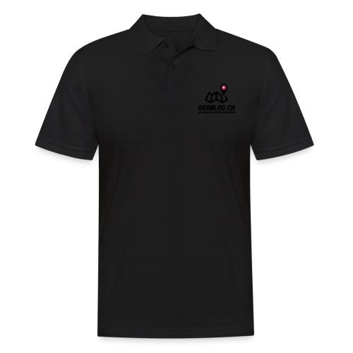 Logo+Schriftzug-hoch - Männer Poloshirt