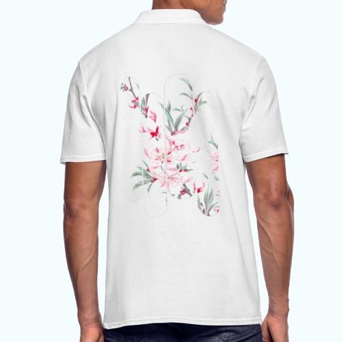 Vintage Japan watercolor flowers - Men's Polo Shirt