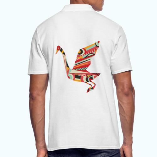 Origami bird Japanese - Men's Polo Shirt