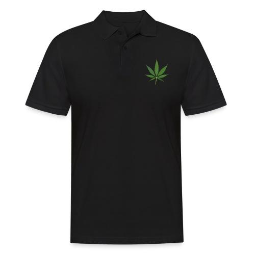 2000px-Cannabis_leaf_2 - Herre poloshirt