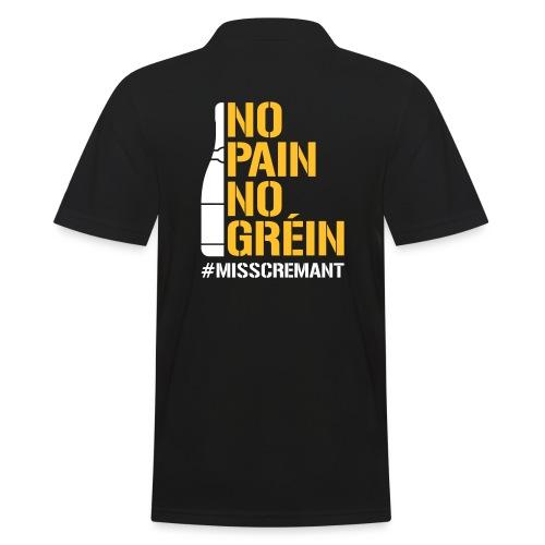 No Pain No Gréin - Männer Poloshirt