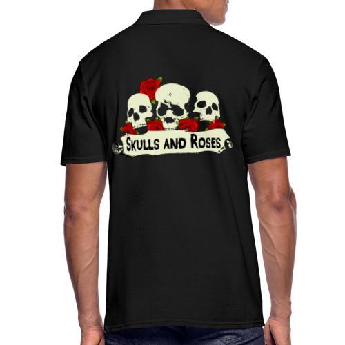Skulls and Roses Schädel mit Rosen - Männer Poloshirt