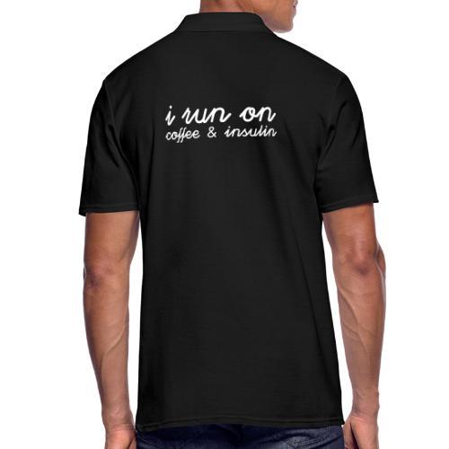 I run on coffee & insulin v4 TAKA - Miesten pikeepaita
