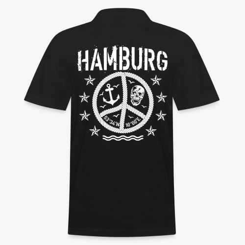 105 Hamburg Peace Anker Seil Koordinaten - Männer Poloshirt