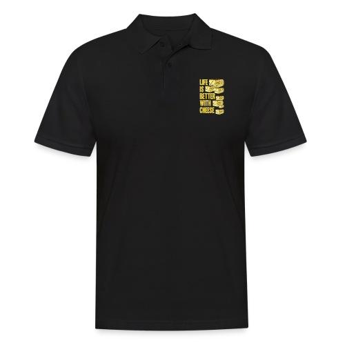 life´s better with cheese - Männer Poloshirt
