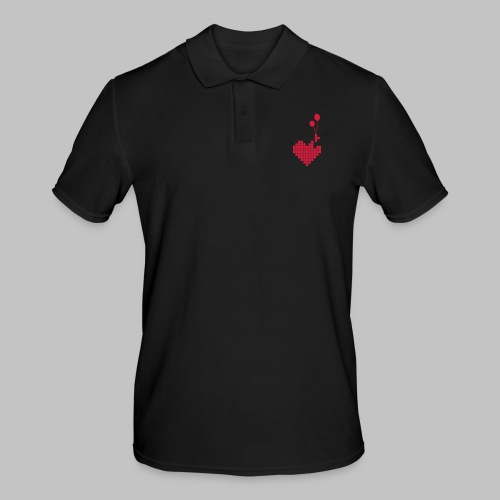 heart and balloons - Men's Polo Shirt
