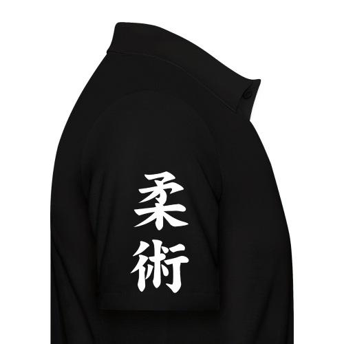 jiu-jitsu på japansk og logo i hvid - Herre poloshirt