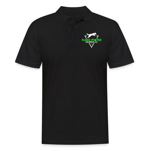 Flinke Pfoten Logo - Männer Poloshirt