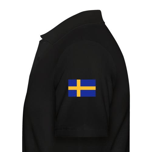 Svenska flaggan - Swedish Flag - Pikétröja herr