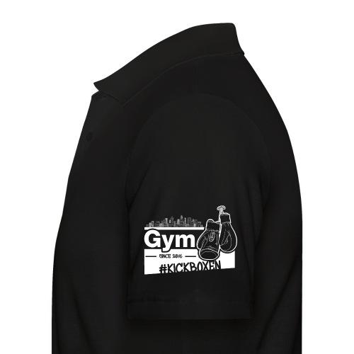 Gym Druckfarbe weiss - Männer Poloshirt