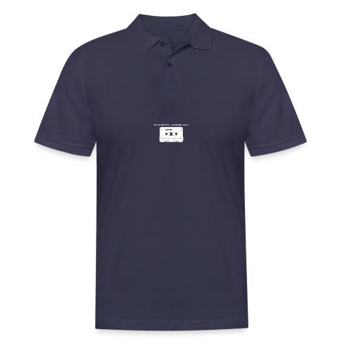 Playlists never like mixtape (dark background) - Men's Polo Shirt