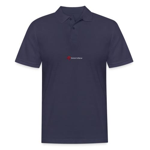 SportsNow-Logo mit weisser Schrift - Männer Poloshirt
