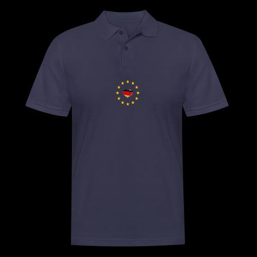Europa Deutschland Herz - Männer Poloshirt
