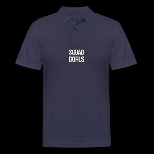 squad goals - Mannen poloshirt