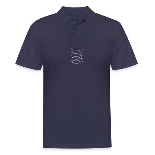Wiener Illusion (weiß auf schwarz) - Männer Poloshirt