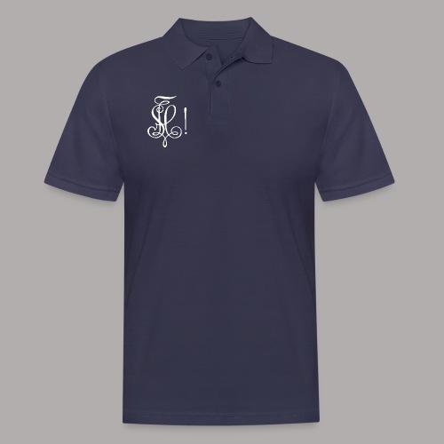 Zirkel, weiss (vorne) - Männer Poloshirt