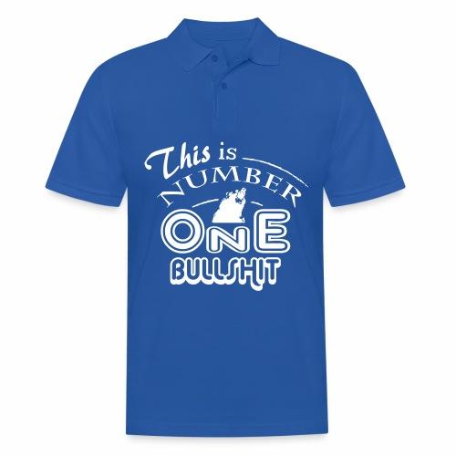 This is number one Bullshit. - Männer Poloshirt