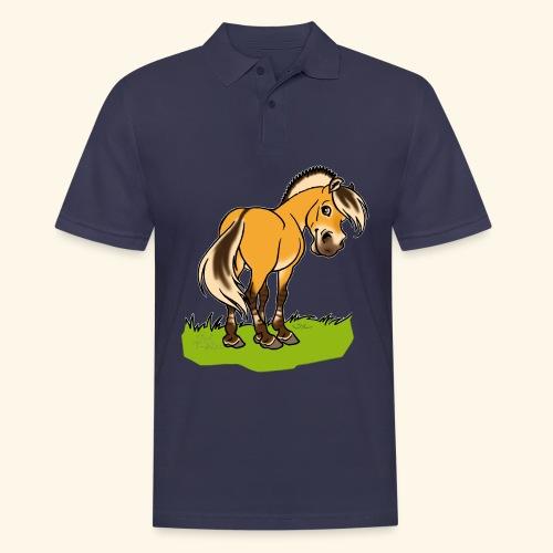 Freundliches Fjordpferd (Ohne Text) Weisse Umrisse - Polo Homme